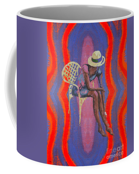Hat Coffee Mug featuring the painting Hat 2 by Patrick J Murphy