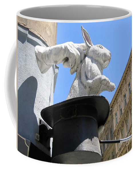 Sign Coffee Mug featuring the photograph Hat Trick by Ann Horn