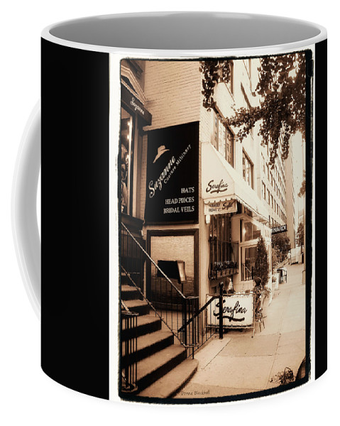 New York Coffee Mug featuring the photograph Hat Trick by Donna Blackhall