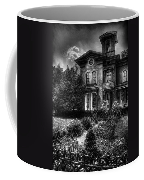 Hdr Coffee Mug featuring the photograph Haunted - Haunted House by Mike Savad