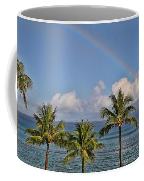 Rainbows Coffee Mug featuring the photograph Hawaii Rainbow by Peggy Collins