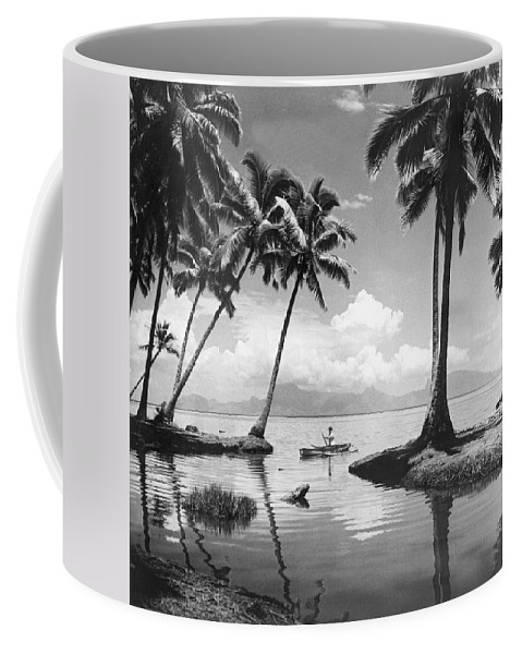 1940 Coffee Mug featuring the photograph Hawaii Tropical Scene by Underwood Archives