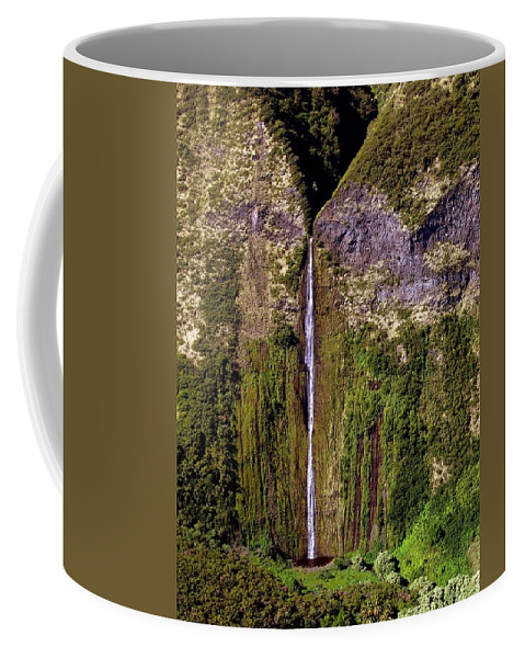 Hawaii Coffee Mug featuring the photograph Hawaiian Waterfall by Eric Swan