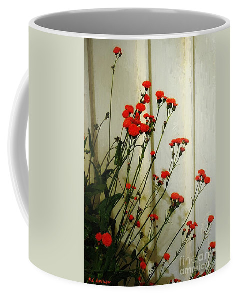 Landscape Coffee Mug featuring the painting Hawkweed In Late Autumn Sun by RC DeWinter