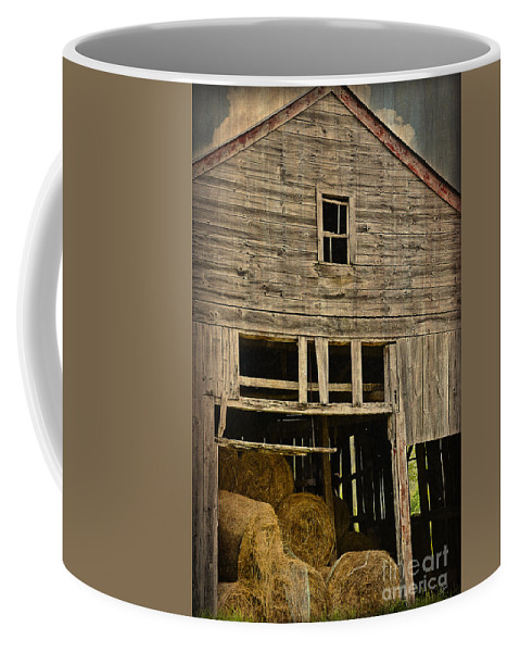 Hay Coffee Mug featuring the photograph Hay For Sale by Alana Ranney