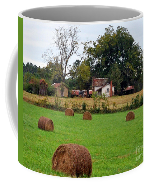 Hay Coffee Mug featuring the photograph Hay From North Carolina by Lydia Holly