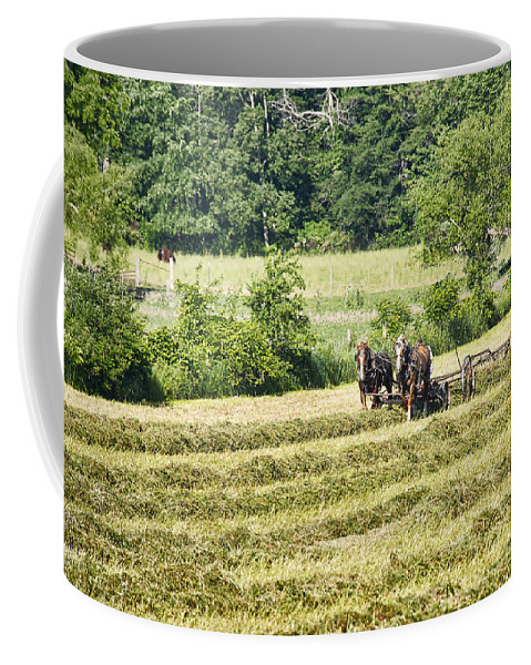 Amish Coffee Mug featuring the photograph Hay Season by David Arment
