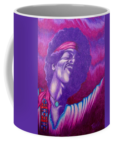 Michael Coffee Mug featuring the drawing Haze by Michael TMAD Finney
