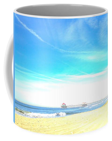 Huntington Beach Pier Coffee Mug featuring the photograph Hb Pier 7 by Margie Amberge