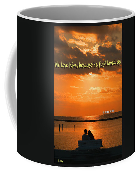 Ocean Coffee Mug featuring the photograph He Loved Us First by Leticia Latocki