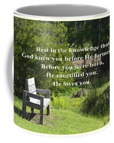 Rest Coffee Mug featuring the photograph He Sanctified You by Leticia Latocki