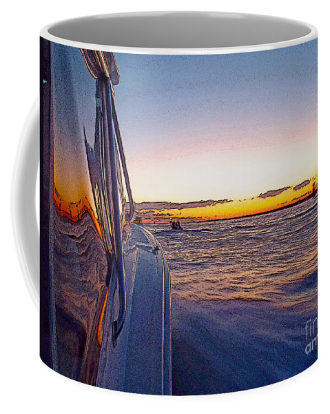 Sportfishing Coffee Mug featuring the photograph Headed Out by Carey Chen