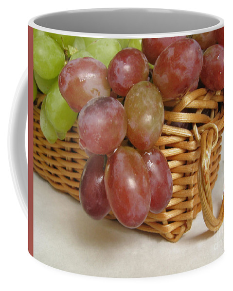 Grapes Coffee Mug featuring the photograph Healthy Snack by Ann Horn
