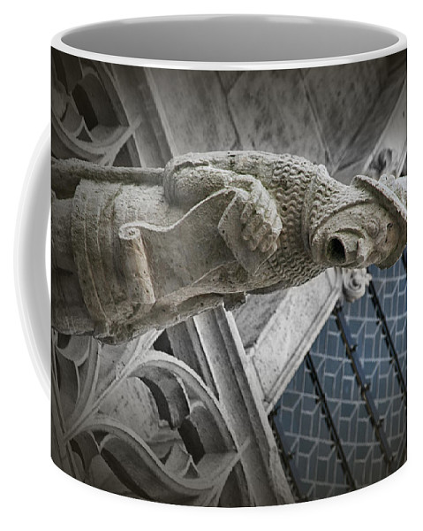 Gargoyle Coffee Mug featuring the photograph Hear Ye by Diana Haronis