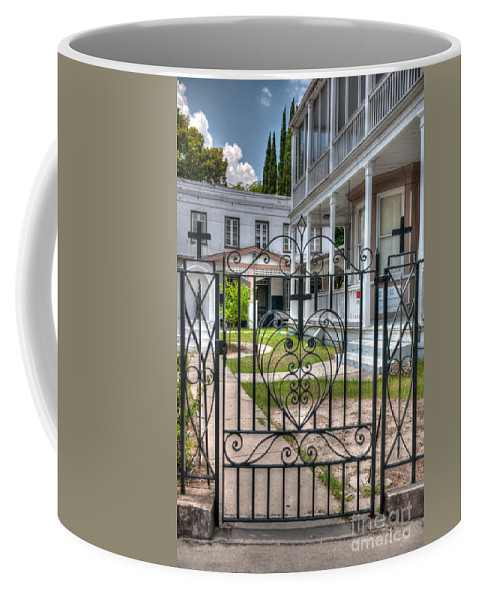 Cross Coffee Mug featuring the photograph Heart And Cross by Dale Powell