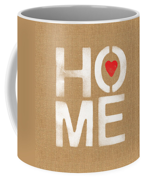 Home Coffee Mug featuring the painting Heart and Home by Linda Woods