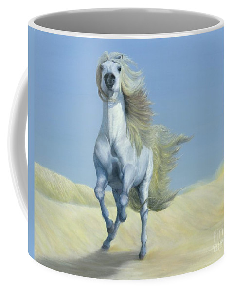 Horse Coffee Mug featuring the painting Heart by Nancy Dunham