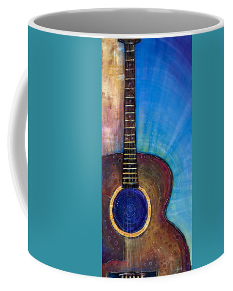 Guitar Coffee Mug featuring the painting Heart Song by Tanielle Childers