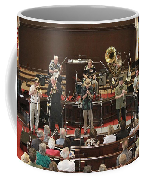 Photos For Sale Coffee Mug featuring the photograph Heartbeat Dixieland Jazz Band by Concert Photos