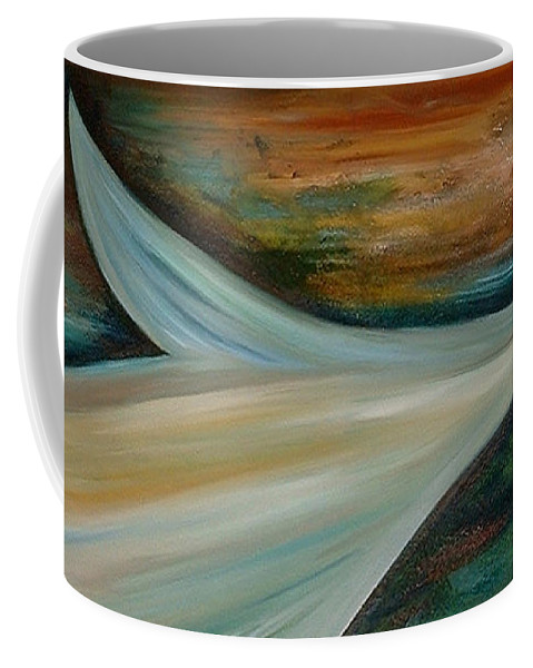 Abstract Coffee Mug featuring the painting Heaven by Silvana Abel