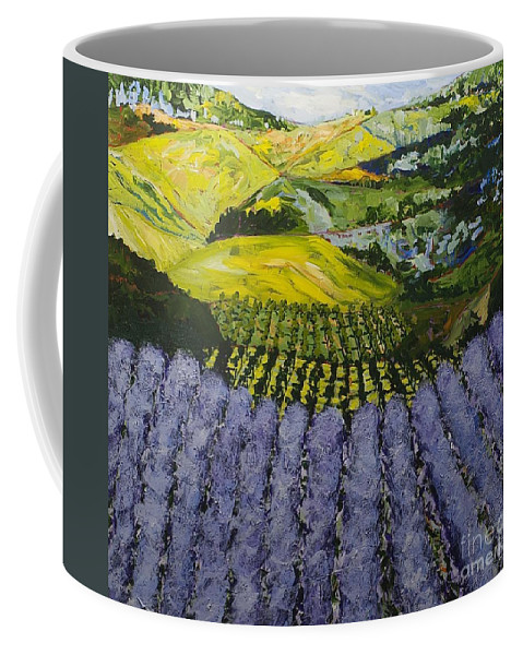 Landscape Coffee Mug featuring the painting Heavenly Valley by Allan P Friedlander