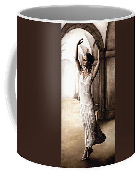 Heaven Coffee Mug featuring the painting Heaven's Angel by Richard Young