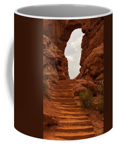 Arches National Park Coffee Mug featuring the photograph Heaven's Entrance by Corinna Stoeffl
