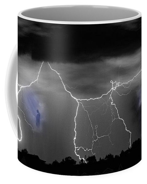 Heaven Coffee Mug featuring the photograph Heavens Gates Happy Easter by James BO Insogna