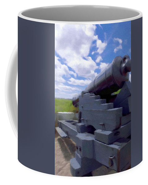 Canadian Coffee Mug featuring the painting Heavy Artillery by Jeffrey Kolker