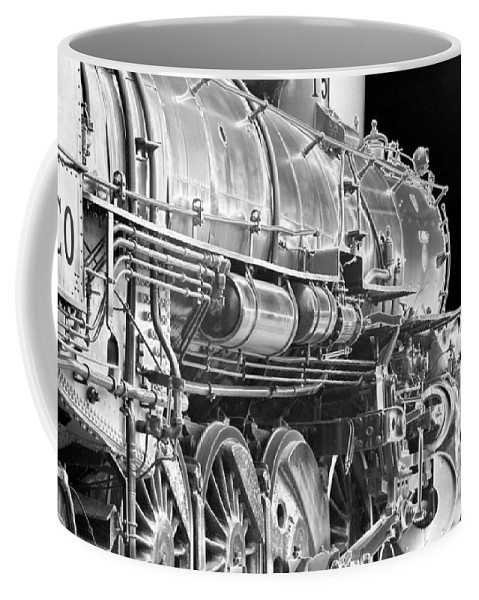 Train Coffee Mug featuring the photograph Heavy Metal 1519 - Photopower 1469 by Pamela Critchlow