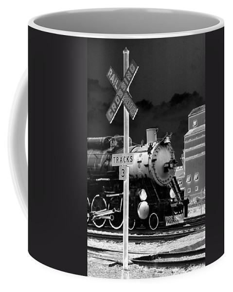 Train Coffee Mug featuring the photograph Heavy Metal 1519 - Photopower 1474 by Pamela Critchlow