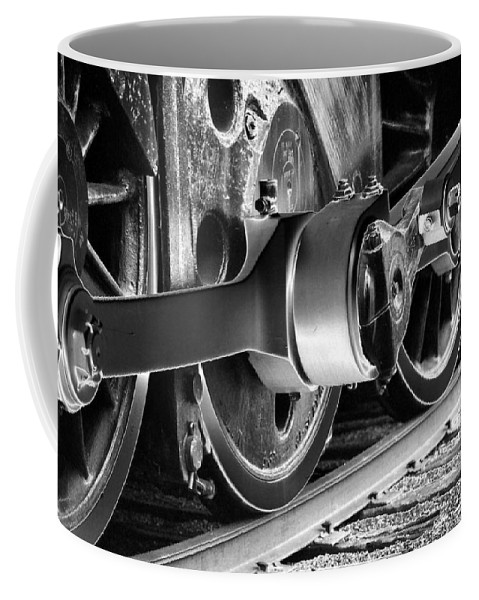 Train Coffee Mug featuring the photograph Heavy Metal 1519 - Photopower 1475 by Pamela Critchlow