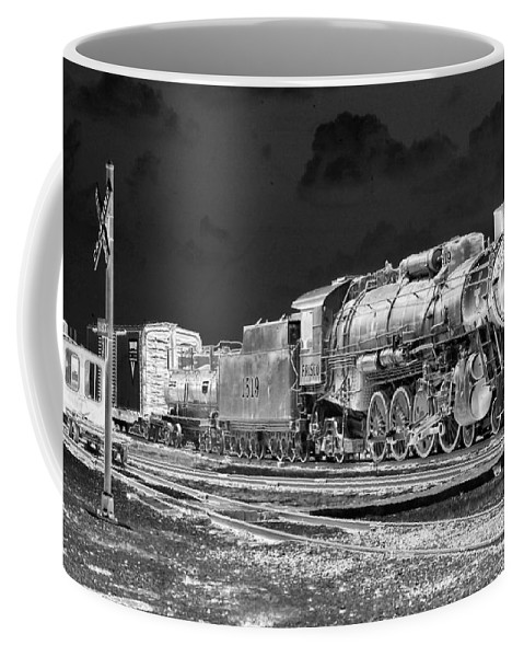 Train Coffee Mug featuring the photograph Heavy Metal 1519 - Photopower 1477 by Pamela Critchlow