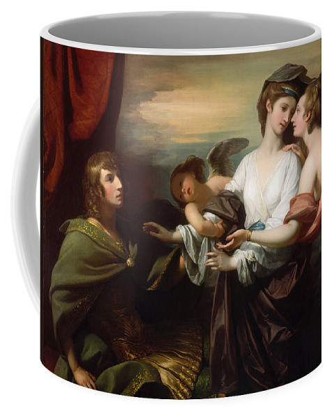 Benjamin West Coffee Mug featuring the painting Helen Brought To Paris by Benjamin West