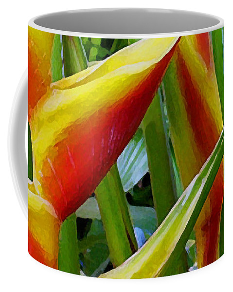 Heliconia Coffee Mug featuring the photograph Heliconia Bihai Kamehameha by James Temple