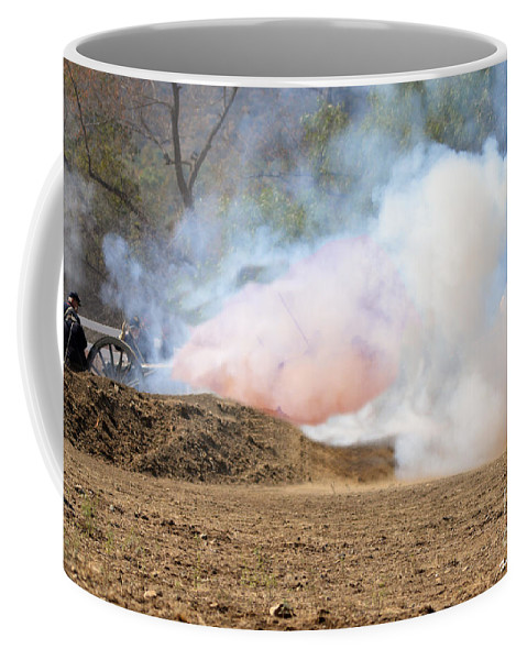 Union Coffee Mug featuring the photograph Hell Fire by Tommy Anderson