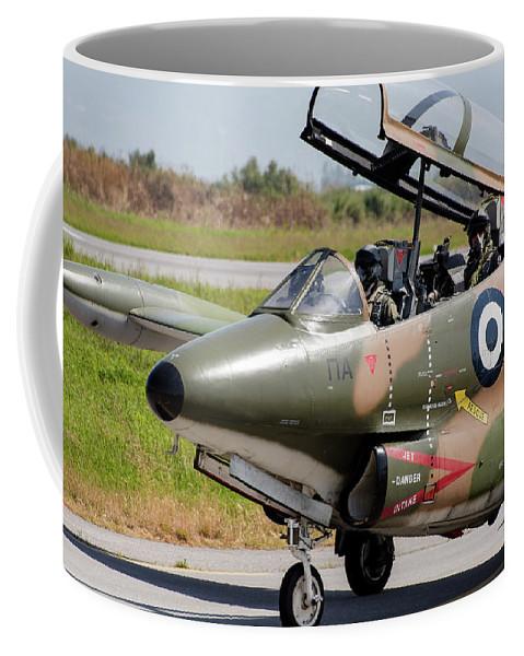 Greece Coffee Mug featuring the photograph Hellenic Air Force Pilots Sitting by Timm Ziegenthaler