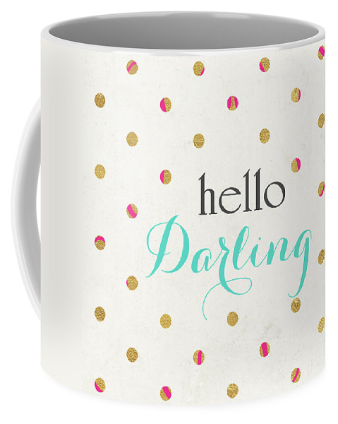 Hello Coffee Mug featuring the digital art Hello Darling Square by Sd Graphics Studio