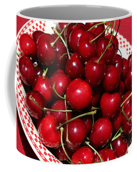 Cherries Coffee Mug featuring the photograph Help Yourself by Carol Groenen