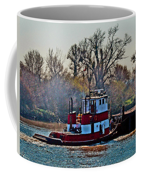 Tug Boats Coffee Mug featuring the photograph Helping Hand by Joseph Coulombe