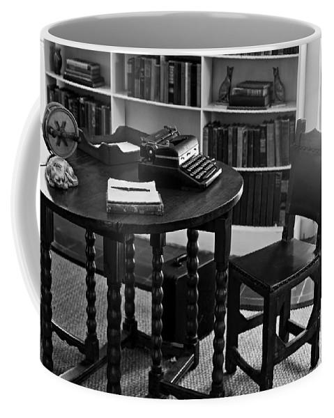 Hemmingway Coffee Mug featuring the photograph Hemmingway's Desk by David Rucker