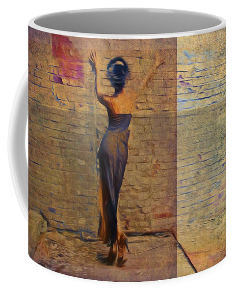 Beauty Coffee Mug featuring the photograph Her Back To The Wall by Alice Gipson