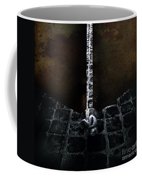 Abstract Coffee Mug featuring the photograph Her Fears by Stelios Kleanthous