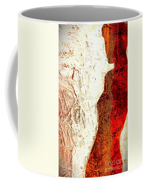Woman Coffee Mug featuring the painting Her Red Silhouette by Jacqueline McReynolds