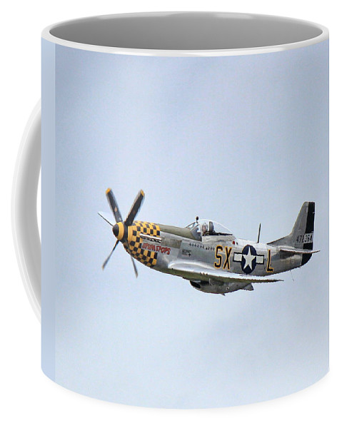Airplane Coffee Mug featuring the photograph Here I Come by Marv Russell