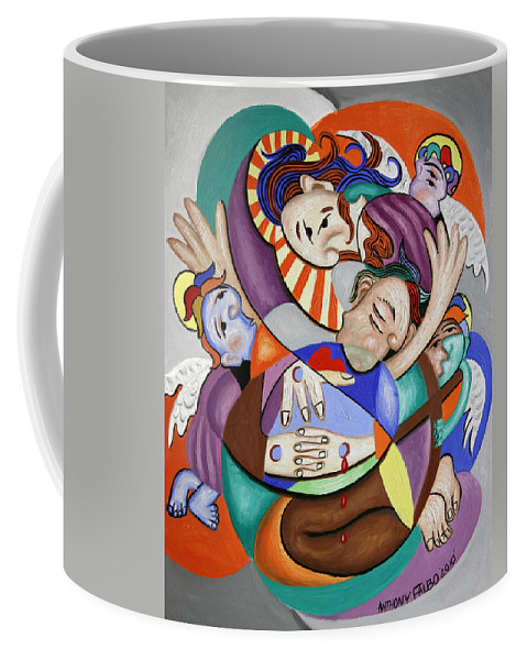 Here My Prayer Coffee Mug featuring the painting Here My Prayer by Anthony Falbo