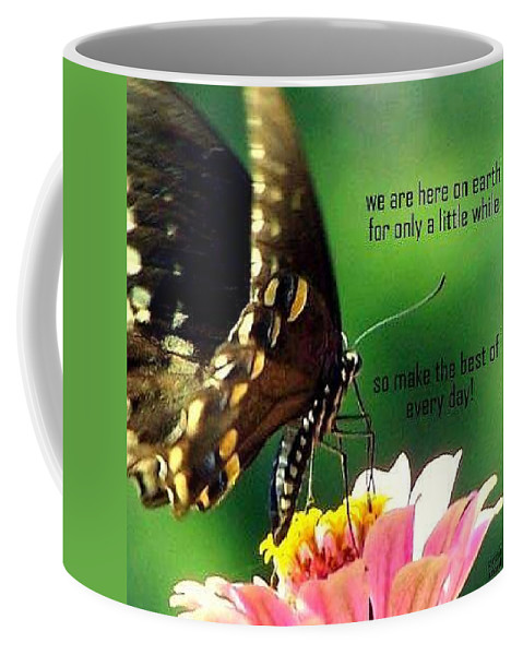 Butterfly Coffee Mug featuring the photograph Here Only A Little While by Cynthia Amaral