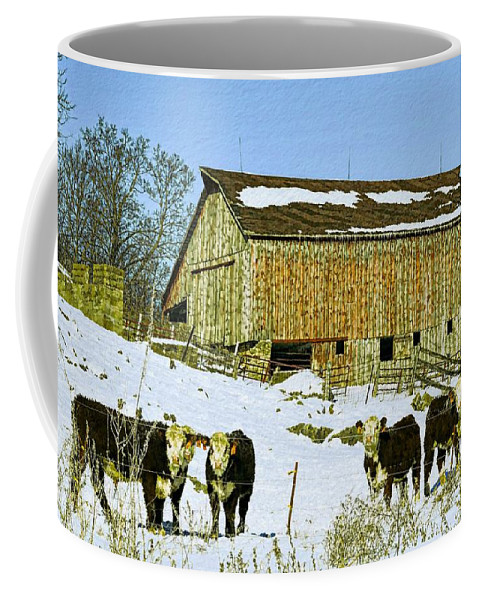 Rustic Coffee Mug featuring the photograph Hereford Barn Painting by Bonfire Photography