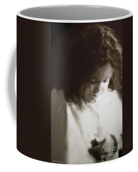 Little Girl Coffee Mug featuring the photograph Here's My Heart by RC DeWinter