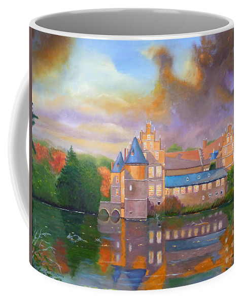 Herten Coffee Mug featuring the painting Herten In The Fall by Petra Stephens